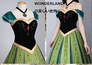 WONDERLAND アナと雪の女王 アナ プリンセスドレス コスチューム Lサイズ