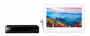 パナソニック 10V型 プライベート・ビエラ UN-10T5-W ポータブル 液晶 テレビ 防水タイプ 500GB HDDレコーダー付 ホワイト