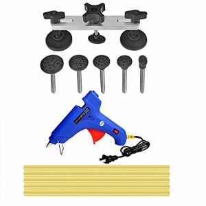 Toppdrtool 車凹み修理 デントリペア 工具 DIY 工具セット ブリッジ型引っ張り 補修工具 グルー 接合 凹み直し (イェログルースティック