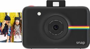 【データも保存できる】ポラロイド Snap デジタルインスタントカメラ (ブラック) プリンタ内蔵 ZINK フォトペーパー対応 (Black)
