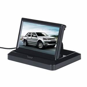 ATian バックアップカメラ DVDビデオ用 5インチHD(800*480)デジタルTFT液晶 折りたたみベース 車載バックモニター