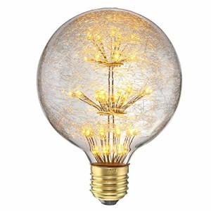 鳥の巣スタイル エジソン電球 KINGSO E26 3W 110V レトロ ガラスバルブ 調光器非対応 ホーム照明器具装飾用