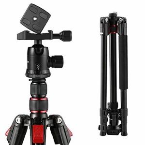 BC Master 三脚 193cm カメラ三脚 4段 雲台 軽量&安定性 三脚ケース  Canon Nikon Sony 一眼レフ ビデオカメラ用