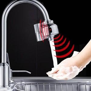 GIBO 自動センサー水栓 キッチン用水栓金具 センサー蛇口 自動水栓蛇口 洗面用水栓 センサー吐水・止水 金属製 二重センサー 節水