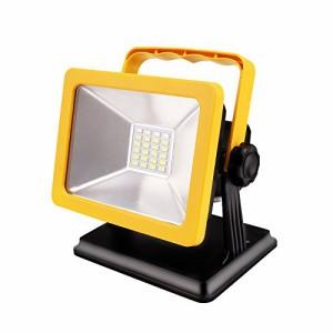 AlierGo LED投光器 LED作業灯 ポータブル投光器15W 充電式 6500K 超薄型 コードレス 防水防塵 長時間点灯 軽量