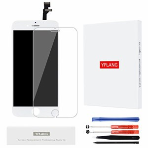 YPLANG iPhone 6 フロントパネル 画面交換修理 用LCD タッチパネル 液晶パネル フロントガラス デジタイザ 修理工具セット付き (白)