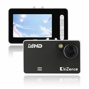 キーゼンス(Kizence) ドライブレコーダー FullHD高画質 2.7インチ USB付アダプター 24ヶ月保証 ze-010