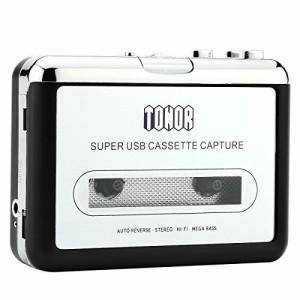 Tonor カセットテープ プレーヤー 簡単に MP3変換 コンバーター 持ち運びやすい (TN398)【Web日本語説明書あり】