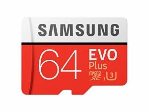 Samsung microSDXC カード 64GB EVO+ Class10 UHS-I U3対応 最大読込速度 100MB/s W:60MB/s 4K MB-MC64GA サムスン