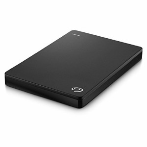 Seagate Backup Plus Slim ポータブル ハードディスク ドライブ with Mobile Device Backup USB 3.0 (2TB, Black)
