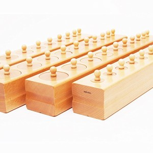【MONTE Kids】モンテッソーリ教具 -- シリンダー 円柱さし 大 -- Montessori 知育玩具教具 幼児早期教育 モンテキッズ 本格教材 算数 お