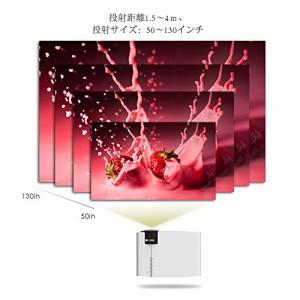 ELEPHAS 小型LEDプロジェクター1500lm USB/SDカード/HDMI/AV/VGA対応 パソコン/スマホ/ゲーム機など接続可