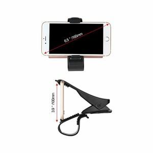 スマホ車載ホルダー OTBBA HUD カーマウントクリップ式 カーホルダー ディスプレイ用スマホスタンド 6.5インチまでiPhone やAndroid多機