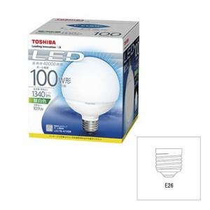 東芝(TOSHIBA) LED電球 ボール電球形 1340lm(昼白色相当)TOSHIBA E-CORE(イー・コア) LDG11N-H/100W LDG11N-H/100W 口金直径26mm