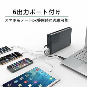 MAXOAK ノートパソコンモバイルバッテリー 超大容量50000mAh PC充電器,6出力ポート搭載、各社のノートPCとスマホ同時に急速充電可能,Sony
