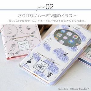 iPhone8 iPhone7 ケース 手帳型 ムーミン 窓付き キャラクター カード収納 / リトルミイ