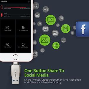 【Apple認証 (Made for iPhone取得)】 Omarsフラッシュドライブ(ロボット) USBメモリー損失防止キャップ付きiPhone iPad iPod touchの容