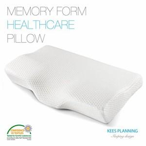 高密度メモリーフォームウレタン 低反発ヘルスケア枕 体圧分散 抜群のホールド感 首・頭・肩をやさしく支える人間工学設計の健康枕 いび