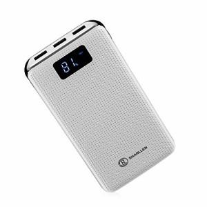 大容量 20000mah モバイルバッテリー 3ポートUSB LED 残量表示 スマホ急速充電 携帯充電器 iPhone / iPad / iPod / Xperia / Galaxy / An