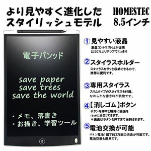 HOMESTEC 12インチ 電子手帳 文房具 電子パッド 電子メモ デジタルペーパー (白)