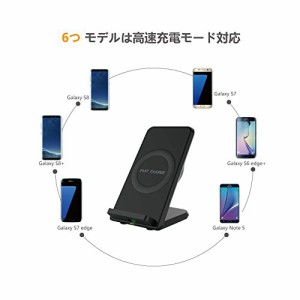 Auckly Qi 急速 ワイヤレス充電器 冷却ファン付き 二つコイル iphone 8/8 plus/X/Galaxy note 8/S8/S8+/S7/S7 Edge/Note 5/S6/S6 Edge Pl