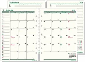 レイメイ藤井 ダヴィンチ 手帳用リフィル 2018年 12月始まり ウィークリー A5 DAR1807