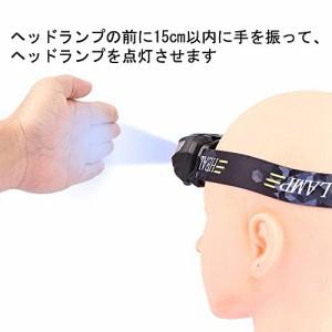 Anbero ヘッドライト LED USB 充電式 防水 ヘッドランプ 適用 登山/キャンプ/サイクリング/ハイキング【明るさ220ルーメン/実用点灯10時