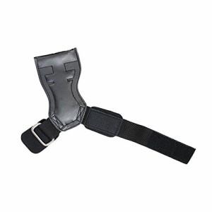 パワーグリップ ウェイトリフティング トレーニング グローブ 筋トレ 手首 負担 軽減 レザー ブラック SL30108A2-JP