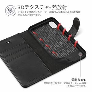 iPhone X ケース 手帳型 TUCCH iPhone 10 ケース 合皮レザー TPUソフトケース 耐衝撃 カード収納 マグネット スタンド 人気 おしゃれ ア