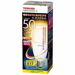 東芝ライテック LED電球 一般電球形 T形 全方向タイプ 断熱材施工器具対応 50W EFD15-E17代替推奨 電球色 LDT6L-G-E17/S/50W  口金直