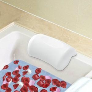 Gufra お風呂 まくら バスピロー 吸盤 滑り止め付 バスタブ グッズ 浴槽枕 ふた 枕 安眠 肩こり浴用品 横向き枕