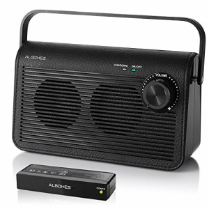 Albohes TV用スピーカー ワイヤレス 手元スピーカー 充電式 30m長距離通信 高音質 低遅延 テレビ専用2.4GHzデジタルワイヤレス方式 T