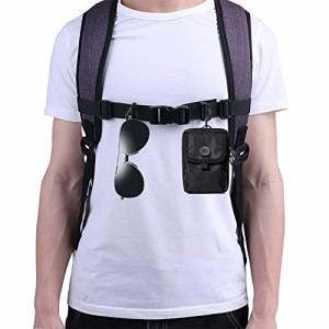 UMENGX バッグアクセサリー チェストベルト リュック ずり落ち防止 バンド 肩ベルト ずれ落ちストッパー