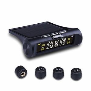"""""""タイヤ空気圧監視システム タイヤ空気圧温度測定 太陽能/USB二重充電 ソーラーワイヤレスTPMSタイヤ タイヤ空気圧モニタリングシステ"""""""