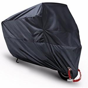 MONOJOY バイクカバー カバーバイク用 原付 オートバイカバー ボディーカバー 風飛防止 防水 防塵 耐熱 車体退色・劣化予防 UV