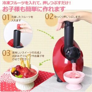 【冷凍 フルーツ スムージー デザートメーカー 果物 シャーベット】 デザート が作れる フルーツデザートメーカー (B218)