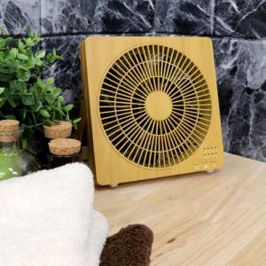 ボックスファン | 木目調 扇風機 サーキュレーター せんぷうき 卓上 コンパクト ミニ USB対応 AC電源 ウッド (C224)