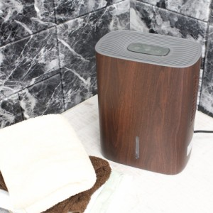 除湿機 ペルチェ式 木目 | 除湿器 タンク容量 1.3リットル 静音仕様 省エネ ブラウン コンパクト 梅雨対策 室内干し クローゼット (C255)