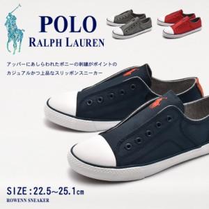 3b40826b99c16 ポロ ラルフローレン スニーカー スリッポン レディース ジュニア ポニー シューズ 靴 黒 POLO RALPH LAUREN ROWENN