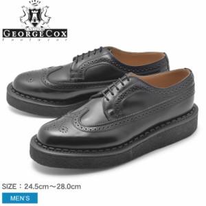 ジョージコックス メンズ ラバーソール 12508 V シューズ 靴  GEORGECOX GOLOSH BROGUE 1640-313