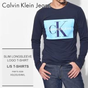 9672fe2833864 カルバンクライン ジーンズ Tシャツ メンズ 長袖 スリム ロングスリーブ ロゴ Tシャツ J30J309600 CALVIN KLEIN