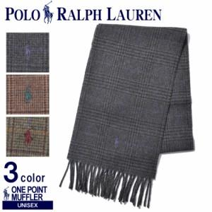 ラルフローレン マフラー メンズ レディース ワンポイント チェックマフラー PC0252 POLO RALPH LAUREN