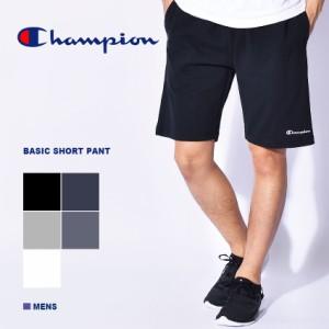 7749e2503b チャンピオンショートパンツ メンズ ベーシック スウェット パンツ シンプル カジュアル ワッペン ロゴ 定番 運動性 耐久性