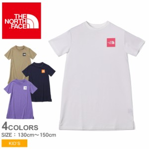 ザ ノースフェイス ワンピース キッズ ジュニア 子供 ワンピースティー ホワイト 白 ベージュ ネイビー THE NORTH FACE NTG32147 Tシャツ