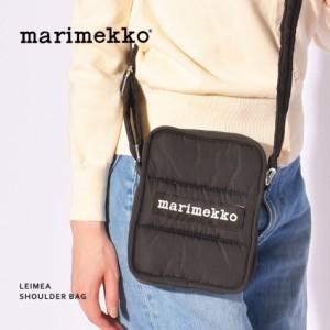 マリメッコ ショルダーバッグ LEIMEA ブラック 黒 MARIMEKKO 49257-900 オシャレ かわいい 北欧 鞄 ミニバッグ 肩掛け 斜め掛け ストラッ