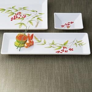 贈り物セット 香蘭社 南天 角皿セット