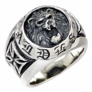 DEAL DESIGN ディールデザイン シルバー リング 指輪 メンズ レディース NEWラージライオン 390811