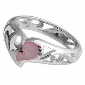 FREE STYLE フリースタイル シルバー リング 指輪 レディース ハートシェル FSR-714