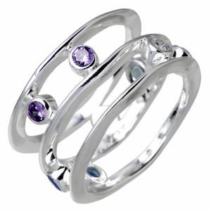 FREE STYLE フリースタイル シルバー リング 指輪 レディース マルチカラー キュービックジルコニア FSR-720