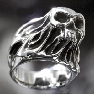 Guillaume ギローム シルバー リング 指輪 メンズ フリーダムスカル 送料無料 髑髏ドクロ骸骨 Gu-R-001